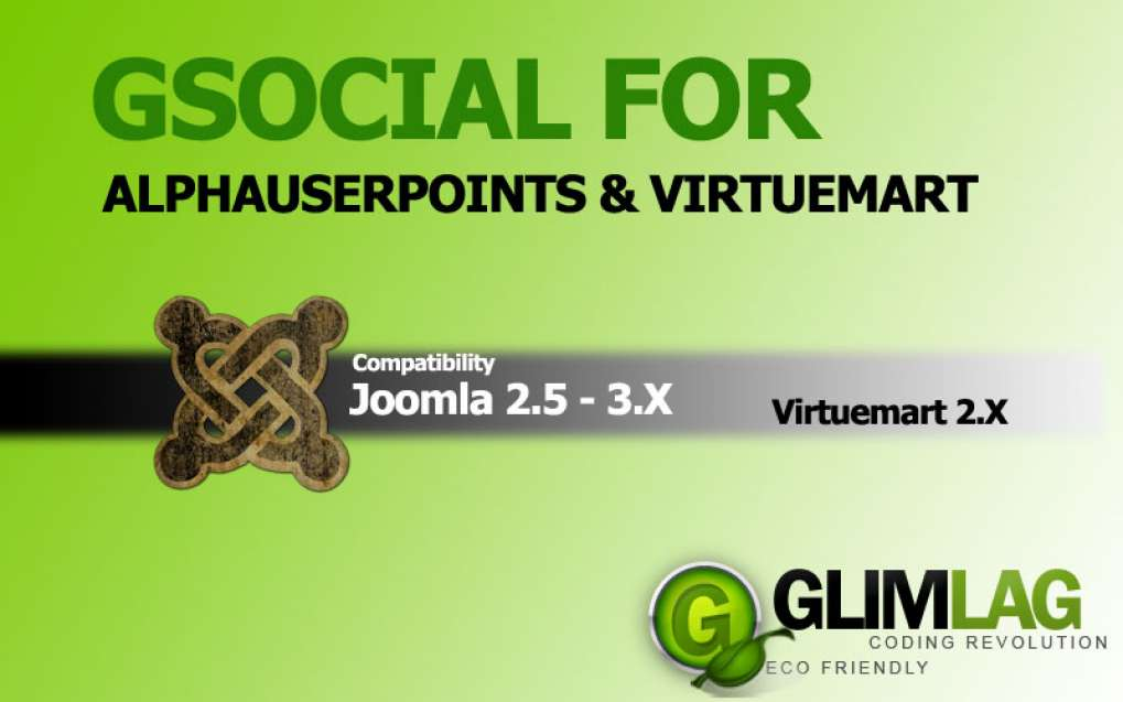 Gsocial for Alphauserpoints and Virtuemart