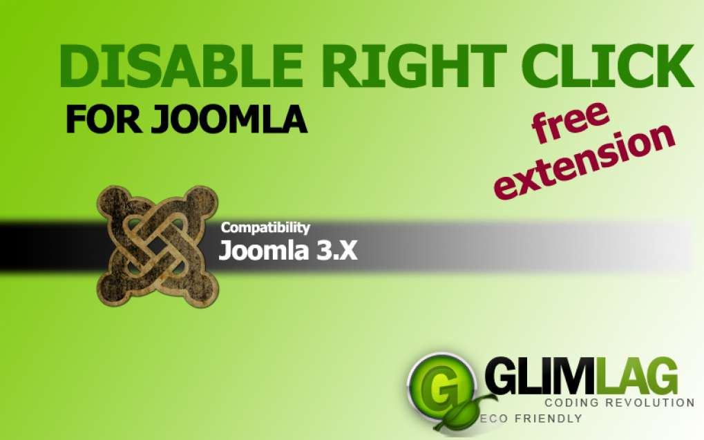 Disable Right Click for Joomla