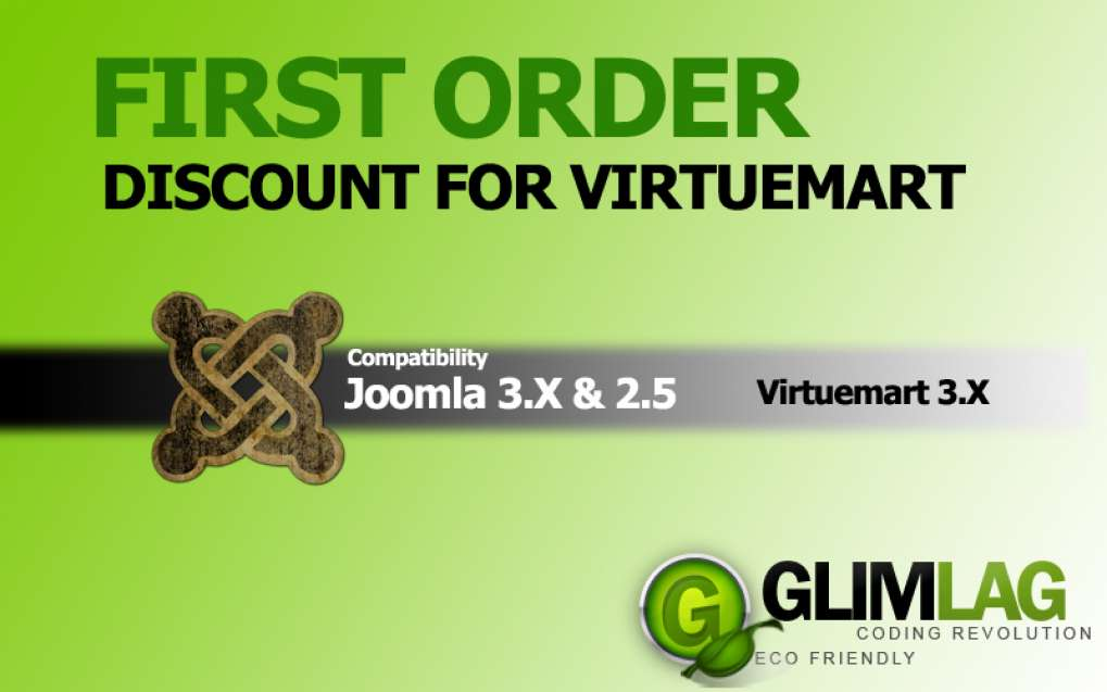 First Order Discount for Virtuemart