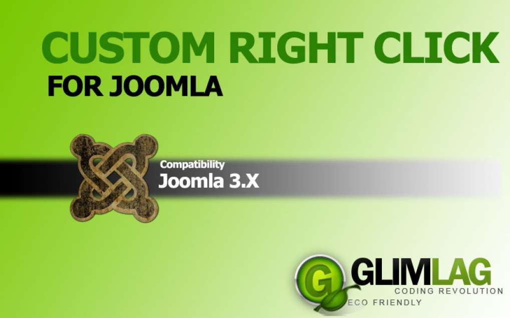 Custom Right Click for Joomla